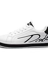 Недорогие -Муж. Комфортная обувь Искусственная кожа Осень Кеды Черный / Красный / Черно-белый