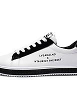 Недорогие -Муж. Комфортная обувь Полиуретан Осень Кеды Черно-белый / Красный / Wit En Groen