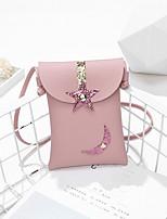 Недорогие -Жен. Мешки PU Мобильный телефон сумка Мультипликация Черный / Розовый / Серый