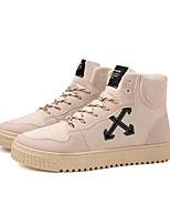 Недорогие -Муж. Fashion Boots Синтетика Весна & осень На каждый день Кеды Для прогулок Сапоги до колена Черный / Бежевый / Серый