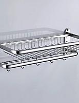 Недорогие -Полка для ванной Новый дизайн / Cool Modern Нержавеющая сталь / железо / Металл 1шт Односпальный комплект (Ш 150 x Д 200 см) На стену