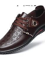 Недорогие -Муж. Комфортная обувь Микроволокно Весна Туфли на шнуровке Черный / Коричневый / Синий