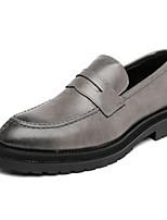 Недорогие -Муж. Официальная обувь Полиуретан Весна & осень Деловые / На каждый день Мокасины и Свитер Черный / Серый / Коричневый / Для вечеринки / ужина