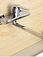 Недорогие -кухонный смеситель - Одной ручкой Два отверстия Стандартный Носик Современный Kitchen Taps