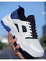 Недорогие -Муж. Комфортная обувь Синтетика Осень Кеды Белый / Серый