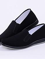 Недорогие -Муж. Комфортная обувь Хлопок Весна & осень Мокасины и Свитер Черный