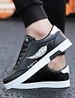Недорогие -Муж. Комфортная обувь Полиуретан Лето Кеды Черный / Черно-белый / Белый / синий