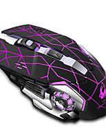 Недорогие -OEM Беспроводная 2.4G Оптический Gaming Mouse LED подсветка 2400 dpi 3 Регулируемые уровни DPI 6 pcs Ключи 2 программируемых клавиши