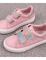 Недорогие -Девочки Обувь Полиуретан Весна Удобная обувь Кеды для Дети / Для подростков Розовый / Розовый и белый / Белое / серебро