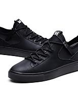 Недорогие -Муж. Комфортная обувь Кожа Весна Кеды Черный / Серый