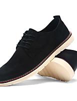 Недорогие -Муж. Официальная обувь Замша Осень Туфли на шнуровке Черный / Коричневый / Хаки