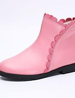 Недорогие -Девочки Обувь Кожа Наступила зима Удобная обувь / Модная обувь Ботинки для Дети / Для подростков Черный / Красный / Розовый