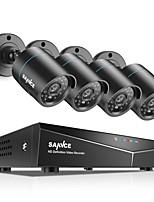 Недорогие -sannce® 8-канальная система видеонаблюдения 720p, система ночного видения, без жесткого диска