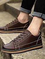 Недорогие -Муж. Комфортная обувь Полиуретан Весна Туфли на шнуровке Черный / Темно-русый / Темно-коричневый