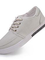 Недорогие -Муж. Комфортная обувь Полотно Весна & осень Кеды Черный / Серый / Хаки