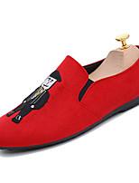 Недорогие -Муж. Комфортная обувь Полиуретан Весна На каждый день Мокасины и Свитер Нескользкий Черный / Красный
