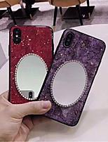 Недорогие -Кейс для Назначение Apple iPhone XR / iPhone XS Max Стразы / С узором / Своими руками Кейс на заднюю панель Мрамор Мягкий ТПУ для iPhone XS / iPhone XR / iPhone XS Max