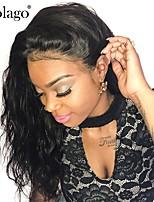Недорогие -Dolago Бразильские волосы 360 Лобовой Волнистый Бесплатный Часть Французское кружево Не подвергавшиеся окрашиванию / Натуральные волосы Жен. с детскими волосами / Для темнокожих женщин / 100