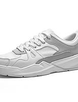 Недорогие -Муж. Комфортная обувь Сетка / Полиуретан Весна На каждый день Кеды Нескользкий Контрастных цветов Белый / Черно-белый