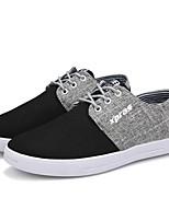 Недорогие -Муж. Комфортная обувь Полотно Весна Кеды Черный / Темно-синий