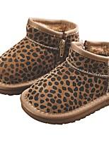 Недорогие -Девочки Обувь Свиная кожа Зима Удобная обувь / Зимние сапоги Ботинки для Дети / Для подростков Черный / Коричневый