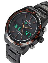 Недорогие -Муж. Нарядные часы Наручные часы электронные часы Кварцевый Черный / Серебристый металл Защита от влаги Календарь Повседневные часы Аналого-цифровые Классика Мода -  / Крупный циферблат