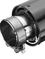 Недорогие -63 мм впускной универсальный глянцевый углеродного волокна выхлопной трубы автомобиля глушитель наконечник