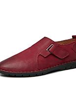 Недорогие -Муж. Комфортная обувь Наппа Leather Весна Мокасины и Свитер Черный / Винный