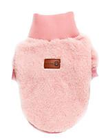 Недорогие -Собаки Комбинезоны Одежда для собак Простой Зеленый Синий Розовый 100% коралловый флис Костюм Назначение Осень Зима Универсальные Наколенники