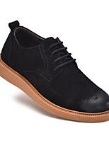 Недорогие -Муж. Комфортная обувь Кожа Весна & осень Туфли на шнуровке Черный / Коричневый / Военно-зеленный