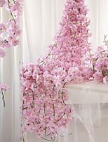 Недорогие -Искусственные Цветы 1 Филиал С креплением на стену подвешенный Для вечеринки Свадьба Сакура Корзина Цветы