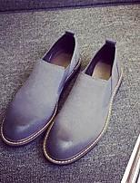 Недорогие -Муж. Комфортная обувь Искусственная кожа Весна & осень Мокасины и Свитер Черный / Серый / Красный
