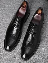 Недорогие -Муж. Кожаные ботинки Кожа Весна лето Мокасины и Свитер Для прогулок Ботинки Черный