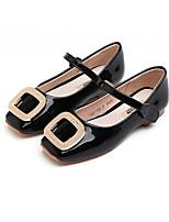 Недорогие -Девочки Обувь Полиуретан Весна & осень Удобная обувь Обувь на каблуках для Дети Черный / Красный / Розовый / Квадратный носок