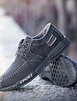 Недорогие -Муж. Комфортная обувь Деним Весна Мокасины и Свитер Черный / Серый / Синий