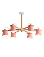 Недорогие -6-Light Люстры и лампы Потолочный светильник Окрашенные отделки Дерево Металл Новый дизайн 110-120Вольт / 220-240Вольт