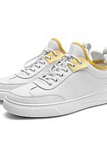 Недорогие -Муж. Комфортная обувь Микроволокно Весна Кеды Белый / Черный