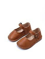 Недорогие -Девочки Обувь Кожа Весна & осень Удобная обувь / Обувь для малышей На плокой подошве для Дети (1-4 лет) Черный / Желтый / Коричневый