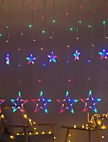 Недорогие -2,5м Гирлянды 138 светодиоды Разные цвета Декоративная 220-240 V 1 комплект