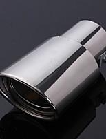 Недорогие -нержавеющая сталь хвост автомобиля задний хром круглый наконечник выхлопной трубы глушителя