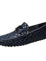 Недорогие -Муж. Комфортная обувь Кожа Весна Мокасины и Свитер Черный / Коричневый / Синий