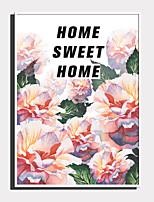 Недорогие -Холст в раме / Набор в раме - Цветочные мотивы / ботанический Пластик Иллюстрации