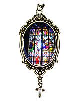 Недорогие -Vampire Dracula Муж. и жен. Камни Готика Средневековый Овал Ожерелья с подвесками Назначение Для вечеринок День рождения Маскарад 1 ожерелье Подвеска 1PC Бижутерия