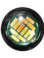 Недорогие -1 шт. Проводное подключение Мотоцикл Лампы 5 W SMD 4014 12 Светодиодная лампа Фары дневного света / Лампа поворотного сигнала / Тормозные огни Назначение Toyota / Mercedes-Benz / Honda L100