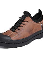 Недорогие -Муж. Комфортная обувь Хлопок / Полиуретан Весна & осень На каждый день Туфли на шнуровке Черный / Коричневый