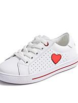 Недорогие -Девочки Обувь Кожа Весна & осень Удобная обувь Кеды для Для подростков Красный