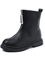Недорогие -Девочки Обувь Микроволокно Наступила зима Удобная обувь / Модная обувь Ботинки для Дети / Для подростков Черный / Бежевый
