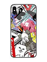 Недорогие -Кейс для Назначение Apple iPhone X / iPhone 8 / iPhone 8 Plus С узором Кейс на заднюю панель Животное / 3D в мультяшном стиле Твердый ТПУ / Закаленное стекло / ПК для iPhone XS / iPhone XR / iPhone