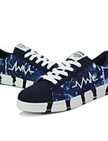 Недорогие -Муж. Комфортная обувь Полотно Лето Кеды Белый / Черный / Синий
