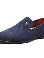 Недорогие -Муж. Комфортная обувь Замша Весна & осень На каждый день Мокасины и Свитер Черный / Синий
